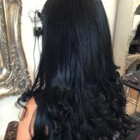 Lush Locks - Long Black Hair Extensions Straight 2