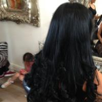 Lush Locks - Long Black Hair Extensions After