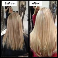Lush Locks - Long Blonde Hair Extensions Before and After