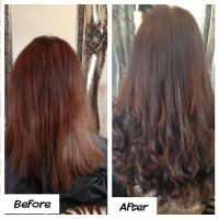 Lush Locks - Before and After Auburn hair