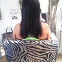 Lush Locks - Long Brunette Hair Extensions Before